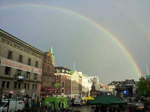 Rainbow over Gammeltorv.