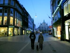 In the streets of Copenhagen.