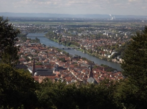 Heidelberg from the hill