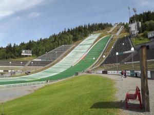 Ski jumps in Lillehammer