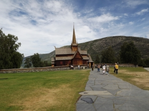 Stave church in Lom