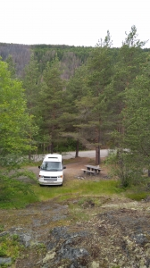 The parking in the forest