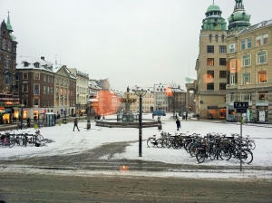 Gammeltorv in winter time.
