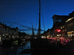 Nyhavn by night.