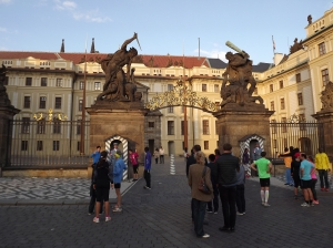 The entrance to Prague Castle
