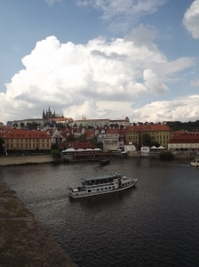 The view from Charles Bridge